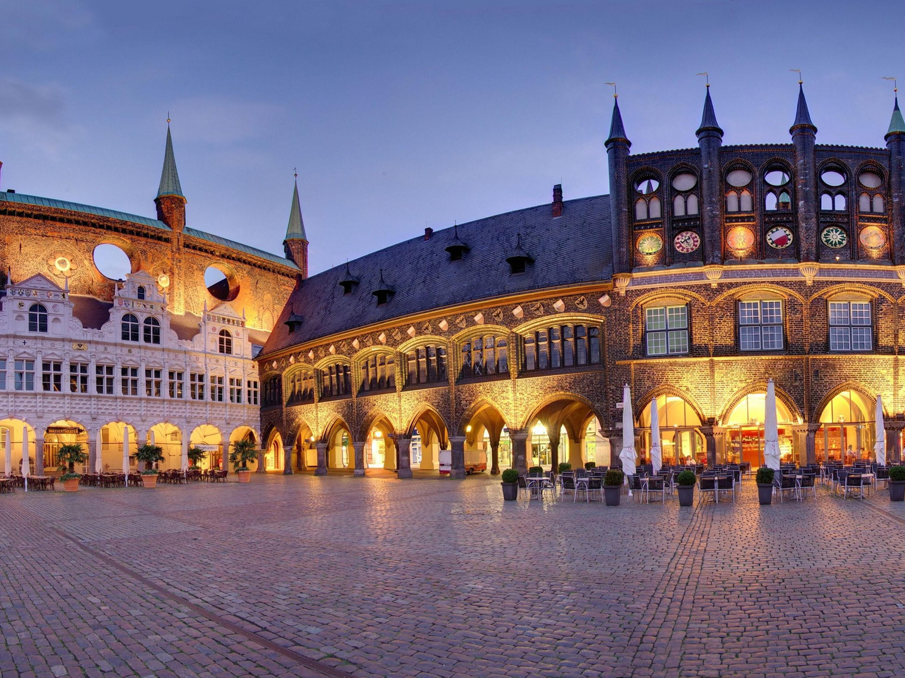 Lubeck´s town hall market
