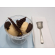 Sirocco sundae with torched marshmallows gelato & chocolate wafer