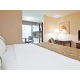 Family friendly King Room with bunk beds and 2nd TV