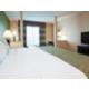 A King Bed and Large Desk make work travel easier