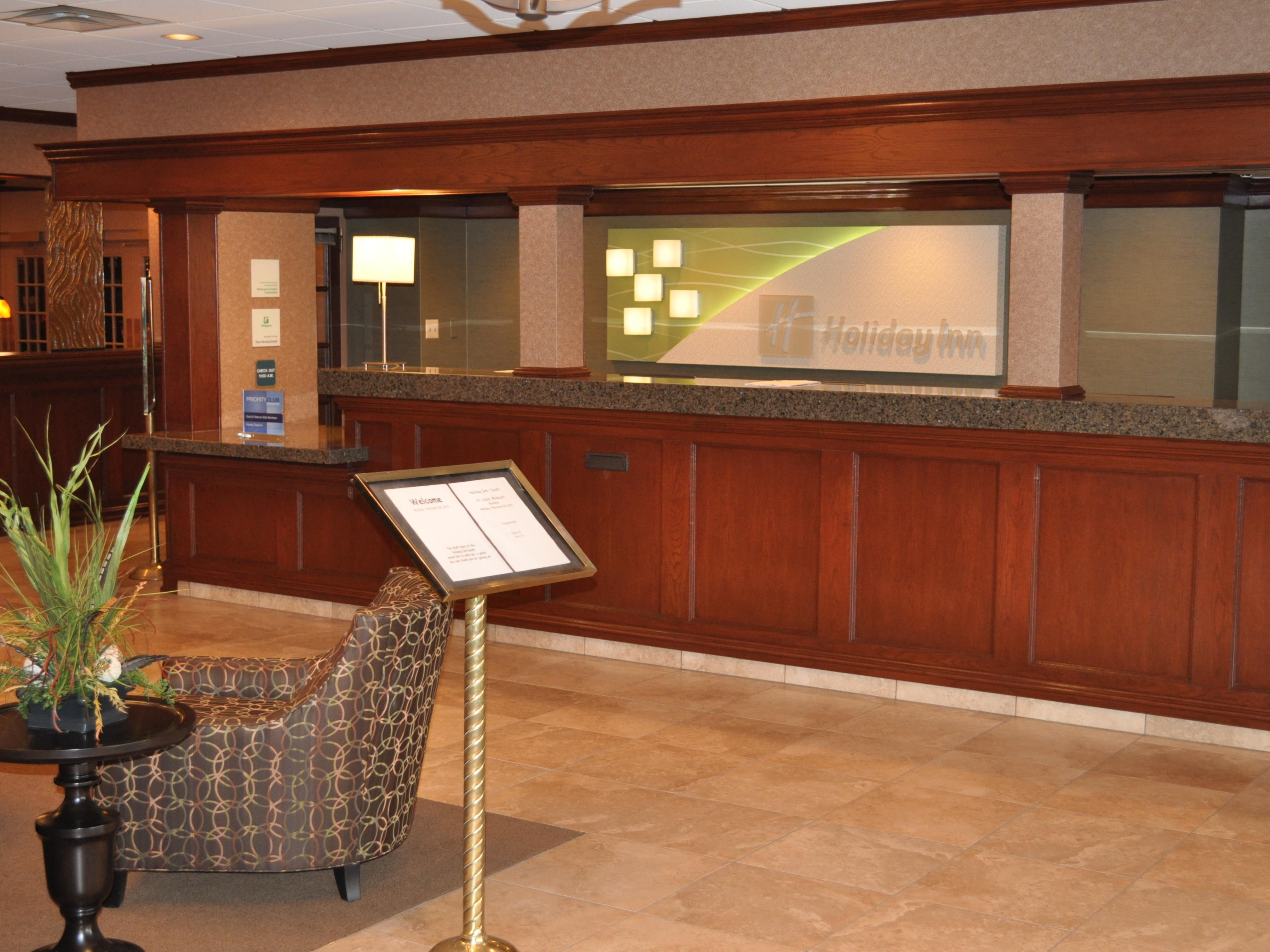 Welcome to our newly renovated lobby & front desk