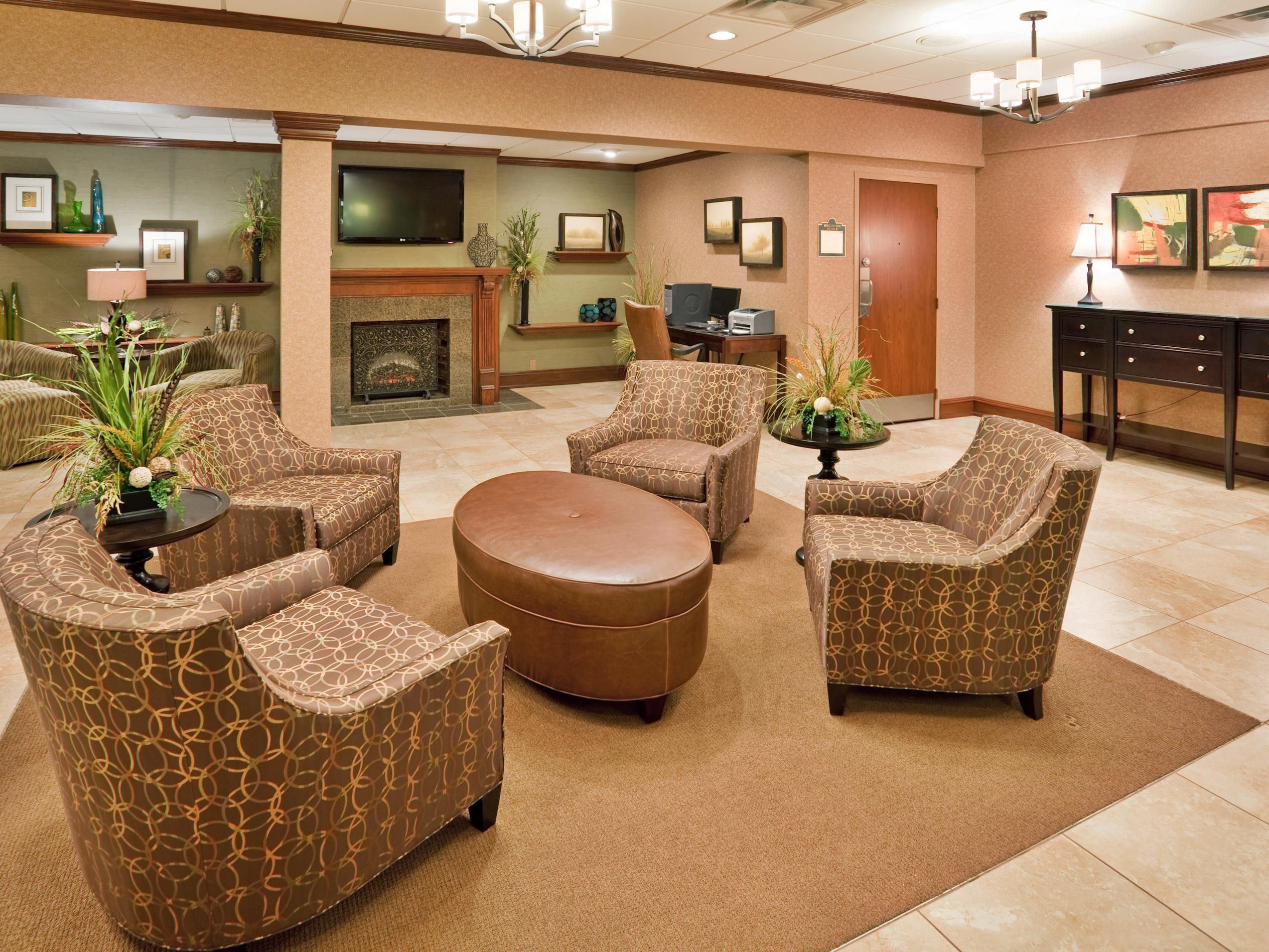 Meet your group in the lobby of the Holiday Inn South!