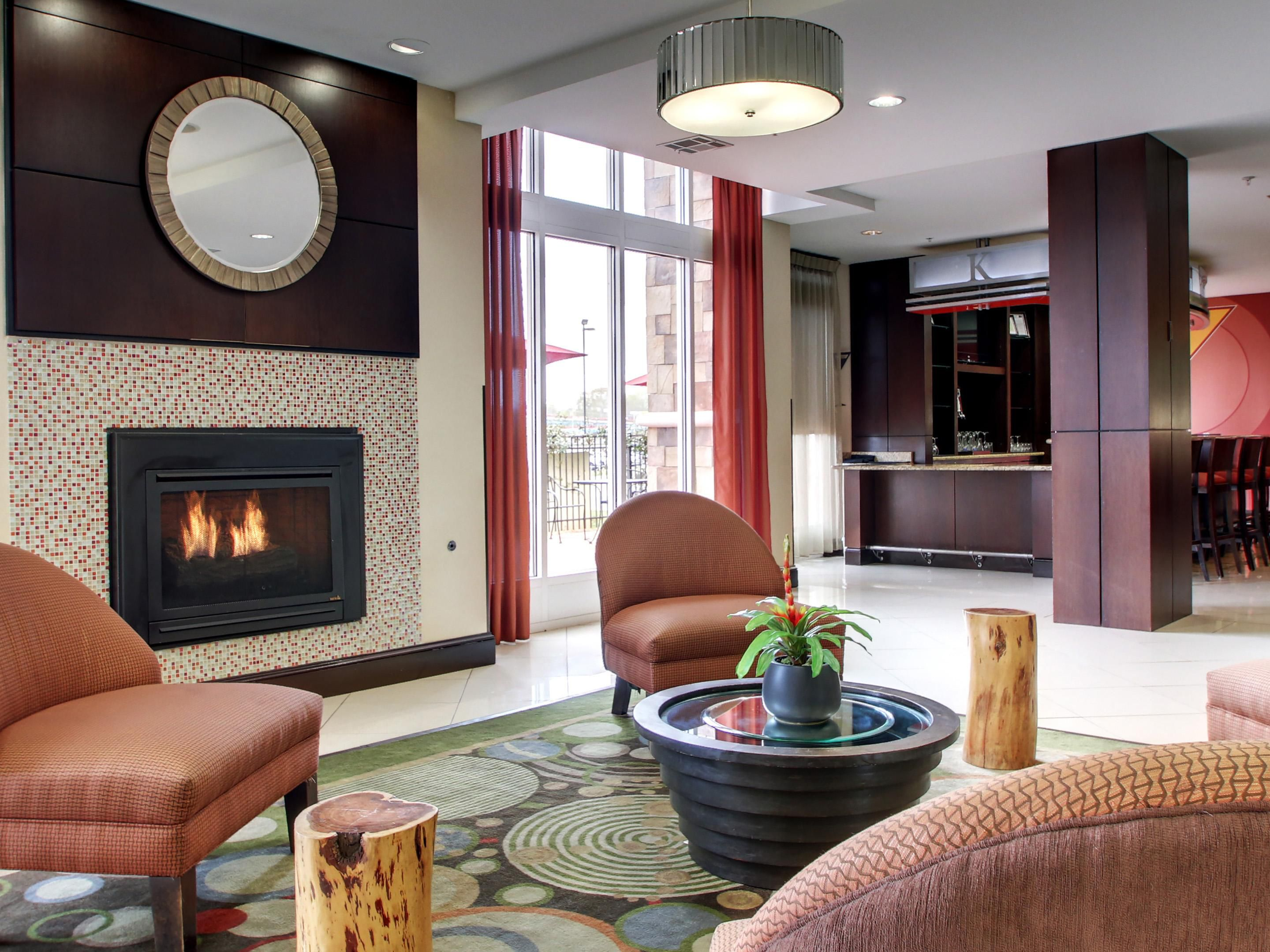 Cozy up in our Lobby Lounge