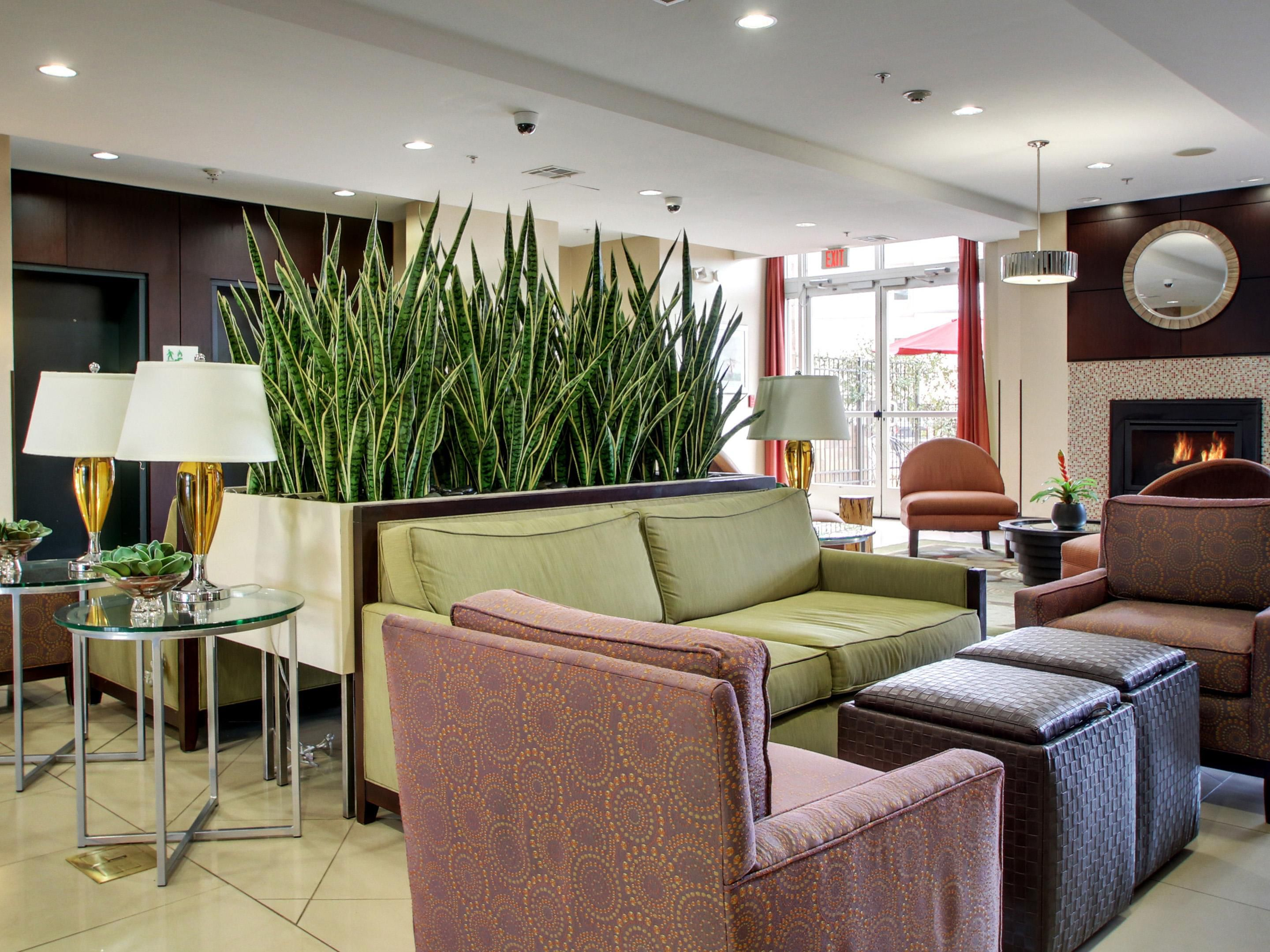 Our warm and inviting lobby