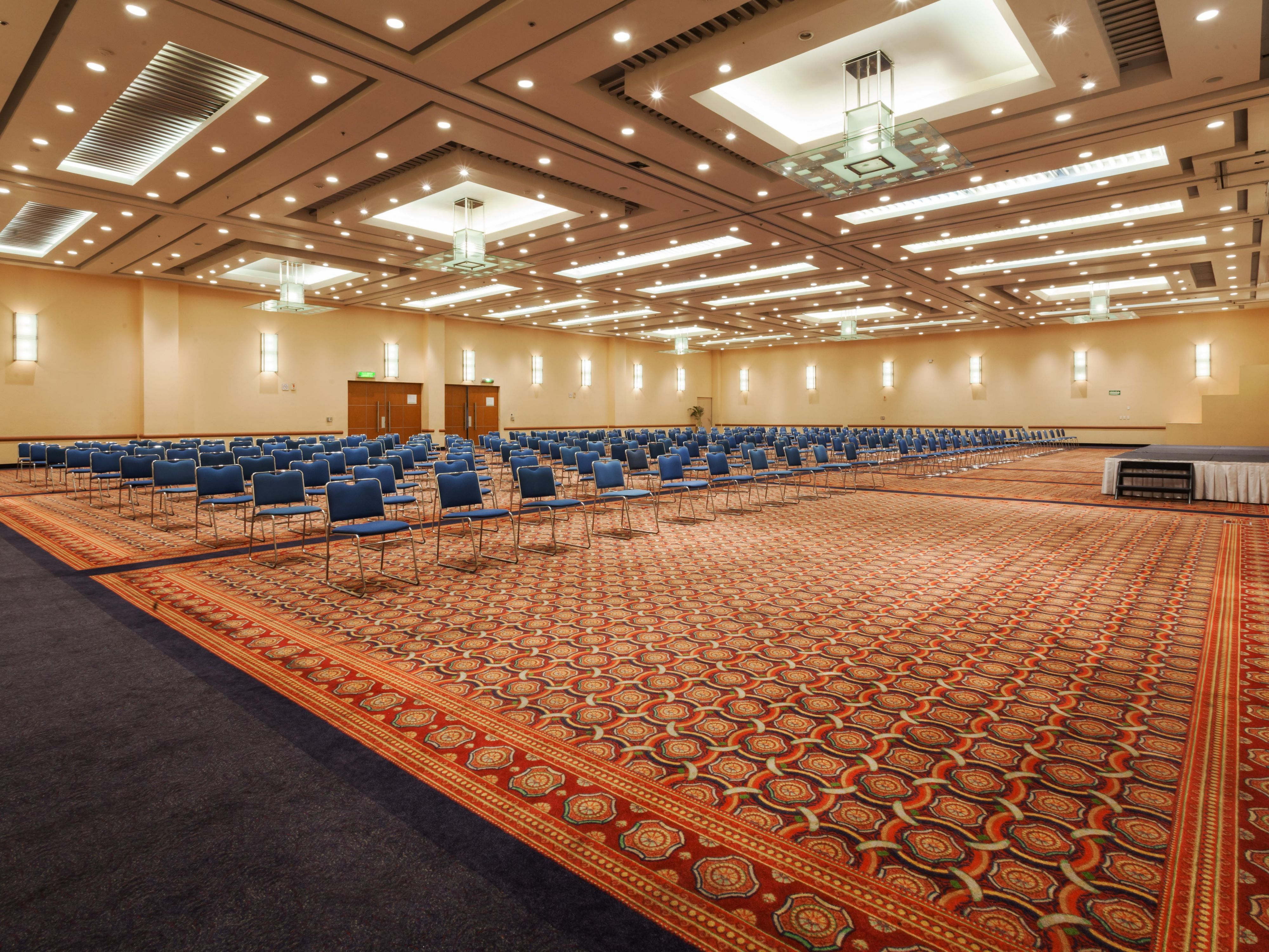 Our grand Ballroom is perfect for large events and banquets