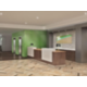 Rendering of the hotel lobby area