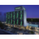 Rendering of the hotel at night