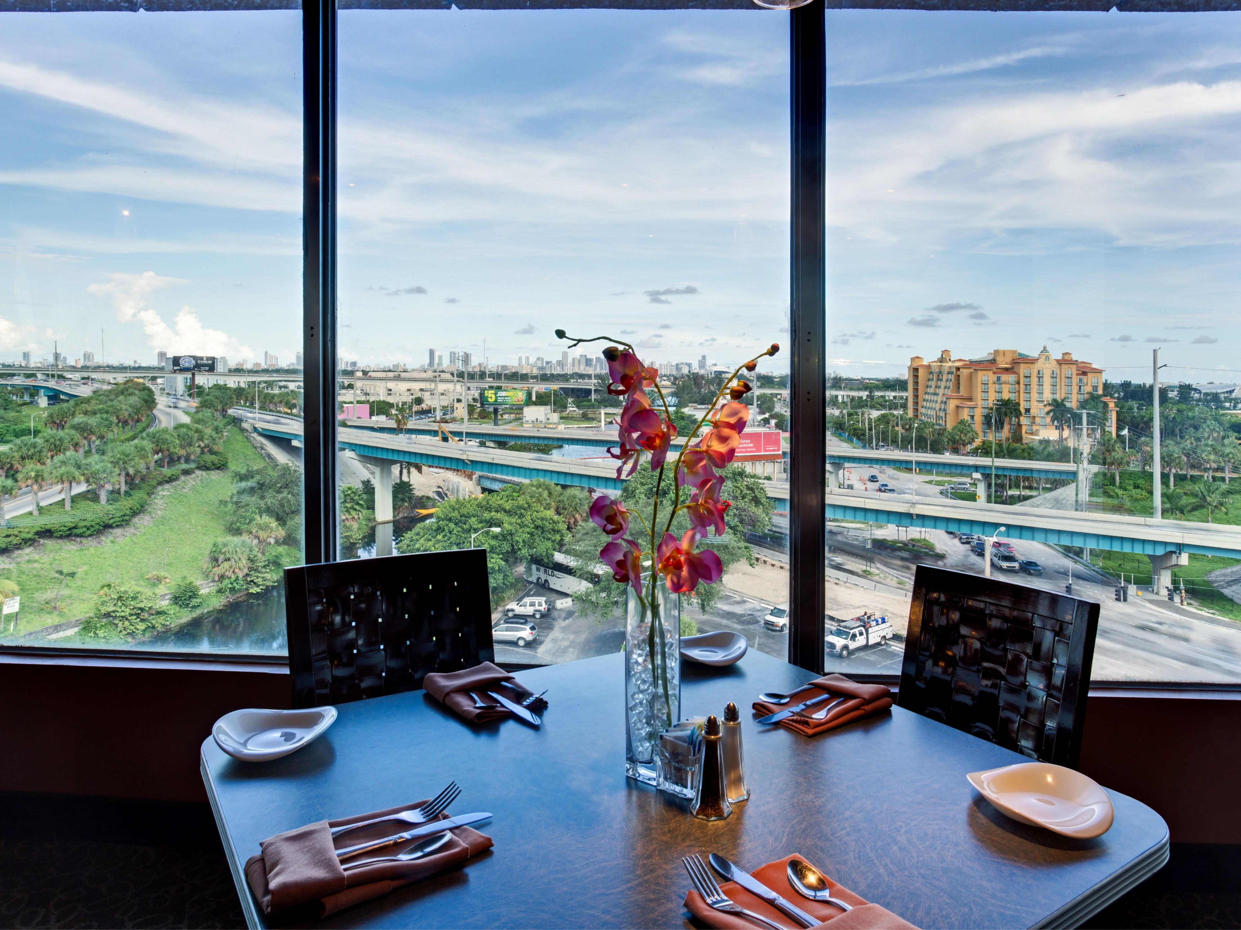 Enjoy Panoramic Views from our Full-Service Rooftop Restaurant