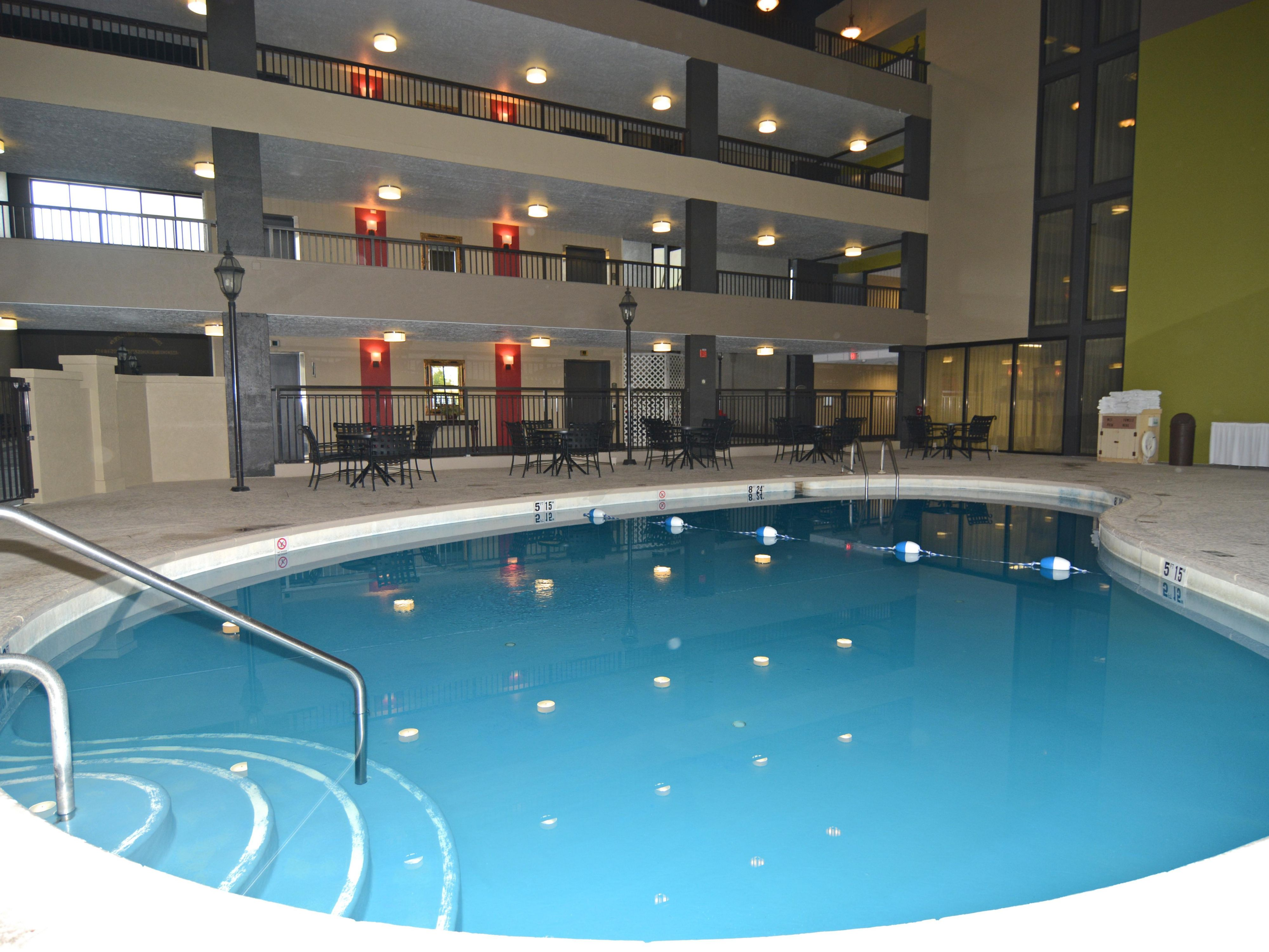 Relax in Our Indoor Heated Pool!