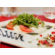 Tuck into delicious dishes in Red & White restaurant