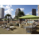 Rooftop Swimming Pool with New Orleans Skyline