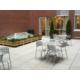 Patio réservé aux clients