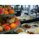 Breakfast Buffet with fresh fruits, hot dishes, cheese