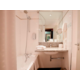 Bath and shower curtain in all executive rooms