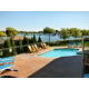Outdoor Portion of Pool with Otonabee River view