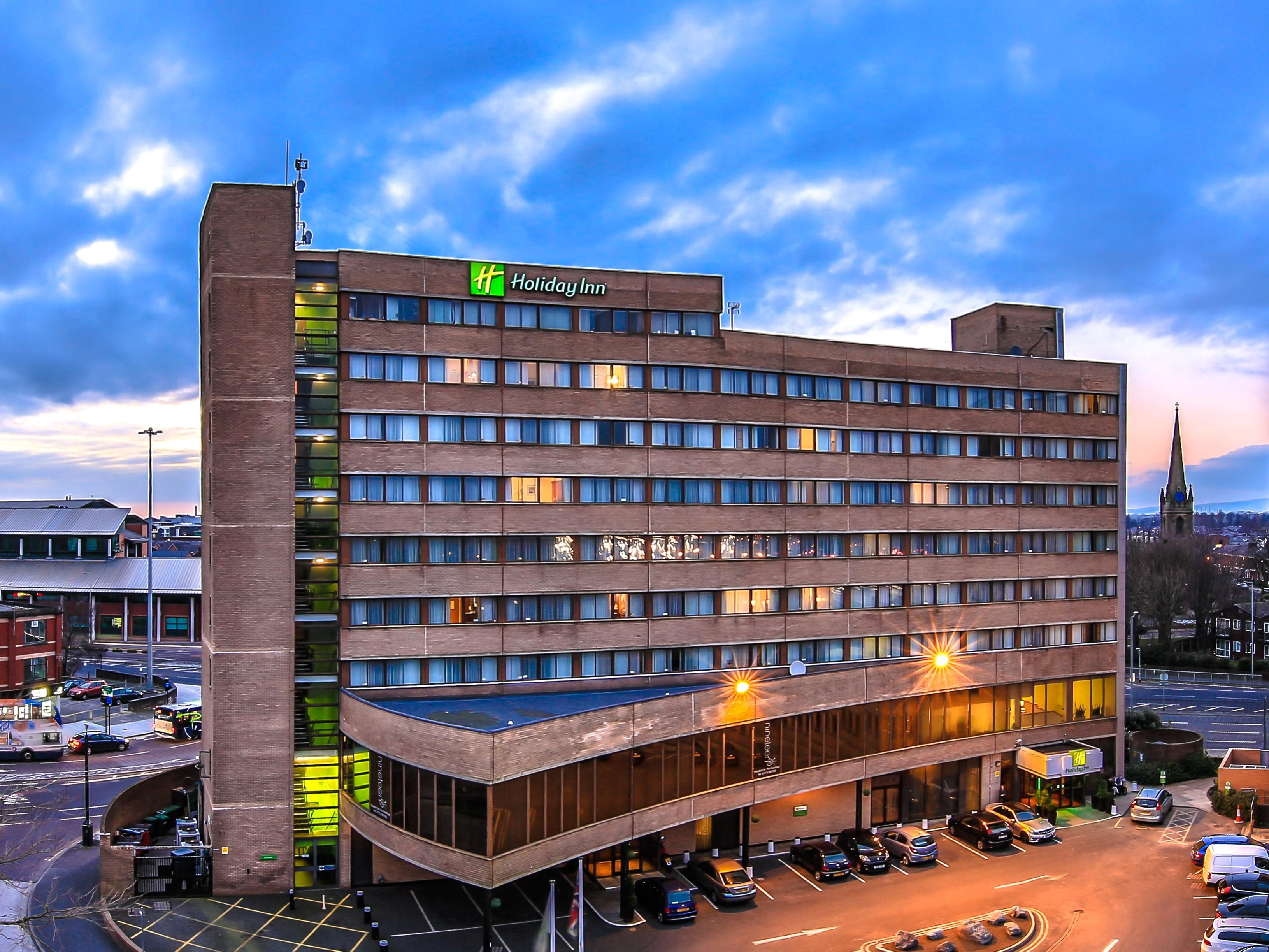Holiday Inn Preston as the sun sets