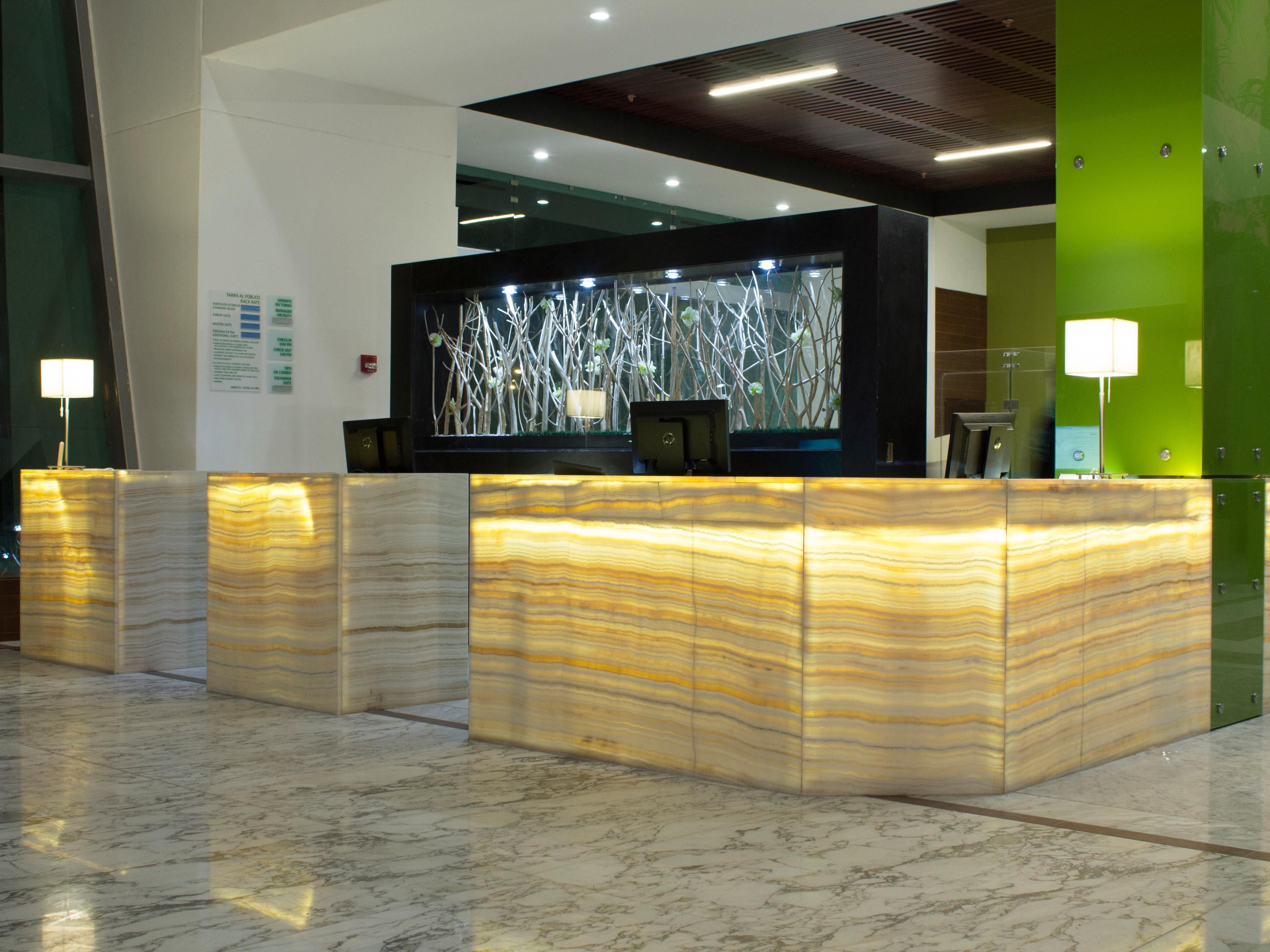 Front Desk at the Lobby