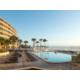 Large pool deck overlooking the Atlantic Ocean