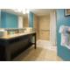 2 Queens Ocean Front Suite Bathroom Vanity and Walk-In Shower
