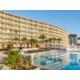 Reflection of Resort in Oceanfront Pool