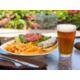 Tasty signature burgers and ice cold beer
