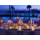 Amazing outdoor ceremony setup overlooking the pools and beach