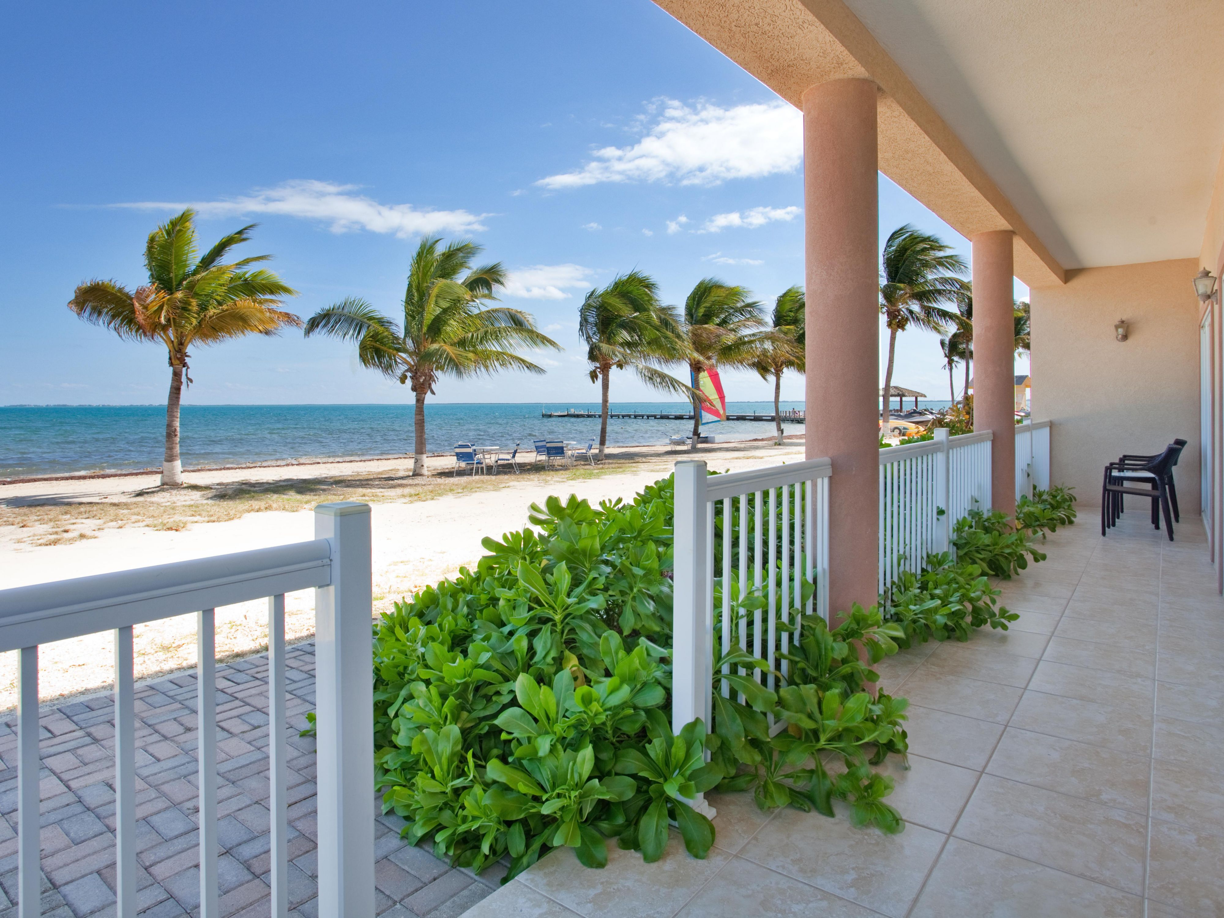 Guest Patio at the Holiday Inn Resort Grand Cayman