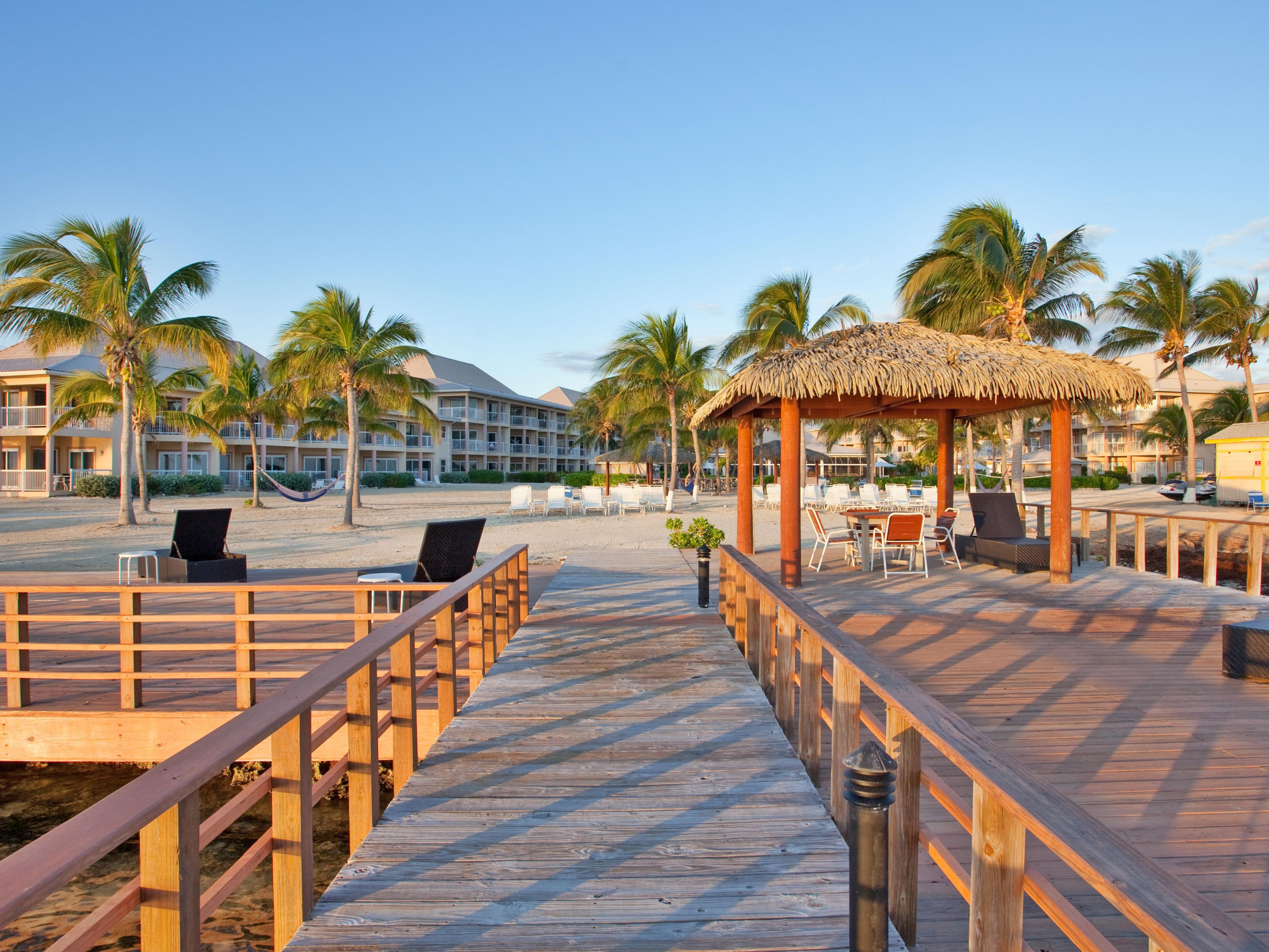 240 foot pier for fishing or relaxing, Holiday Inn Grand Cayman