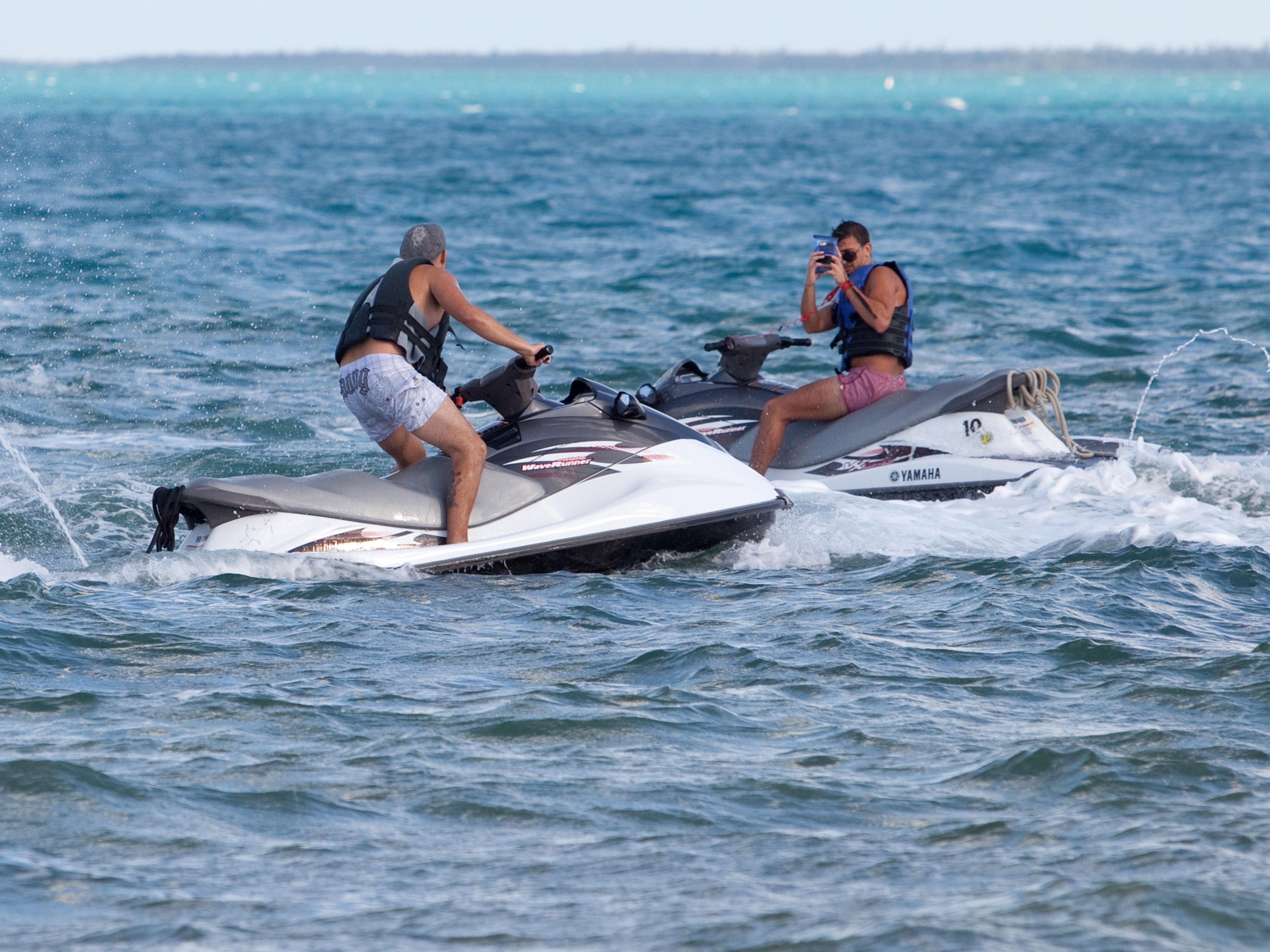 Jetskis are available for rent at the Holiday Inn Resort