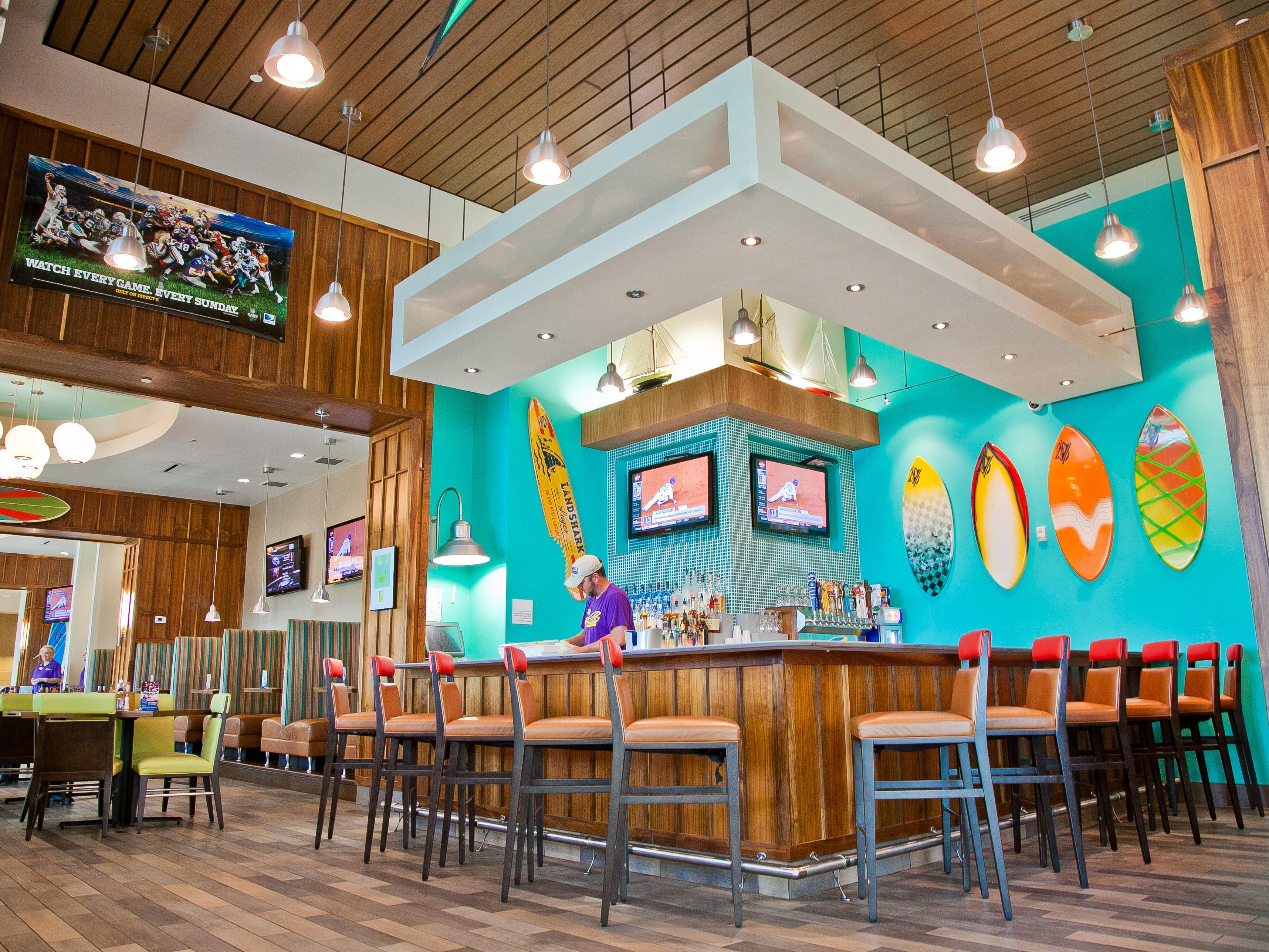 Riptides Sports Grill w/ a Full Bar & 20 HD TVs Waiting To Serve
