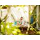 An outdoor space available in a Garden and Beach view villas.