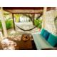An outdoor sitting space in a Beach Villa.