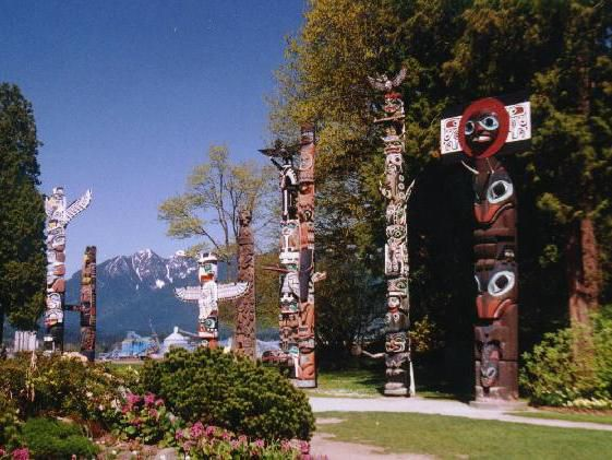 Totem Poles at Stanley Park Vancouver