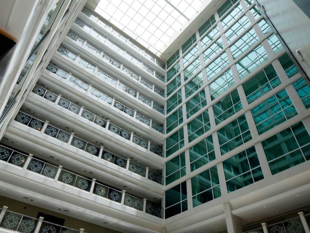 Atrium view from room