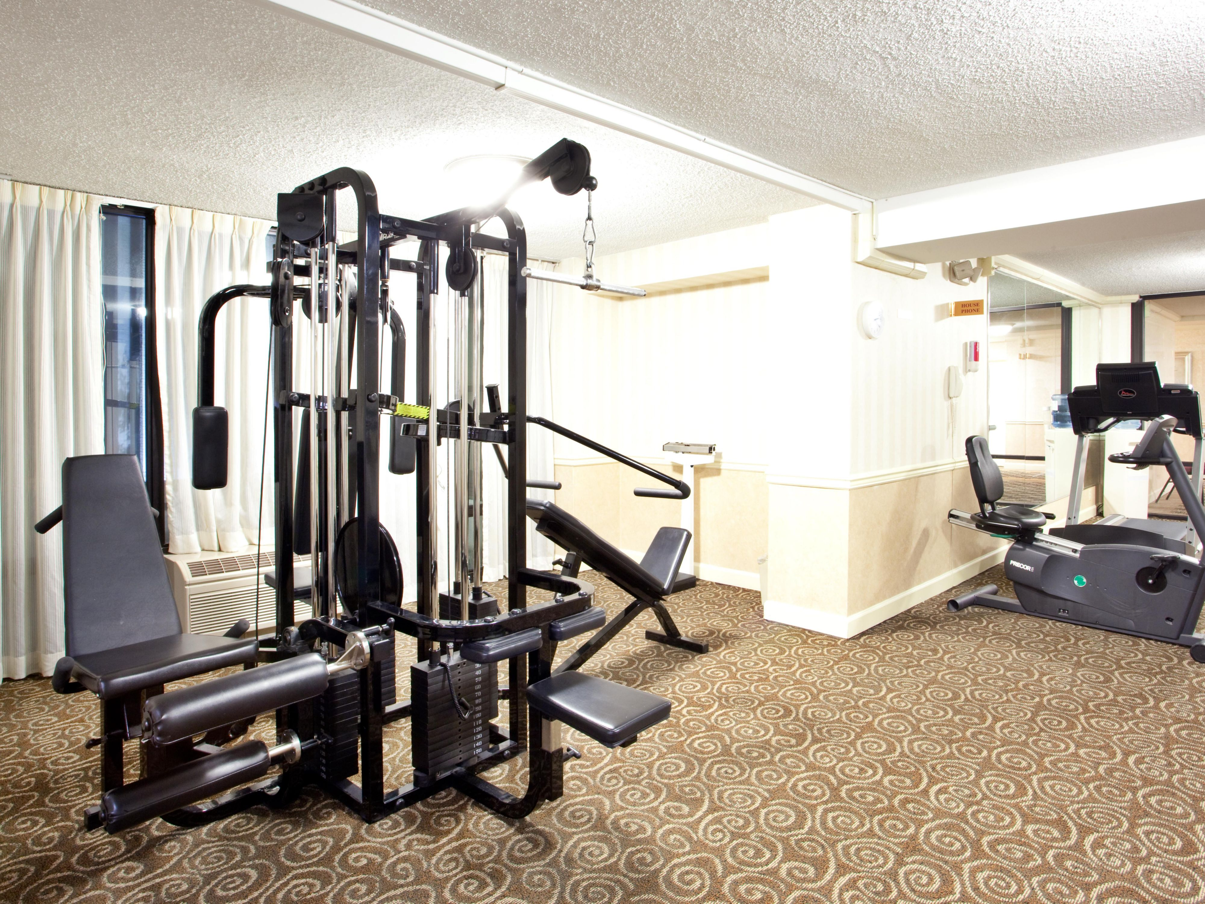 Our Fitness Center is Located on the Second Floor!