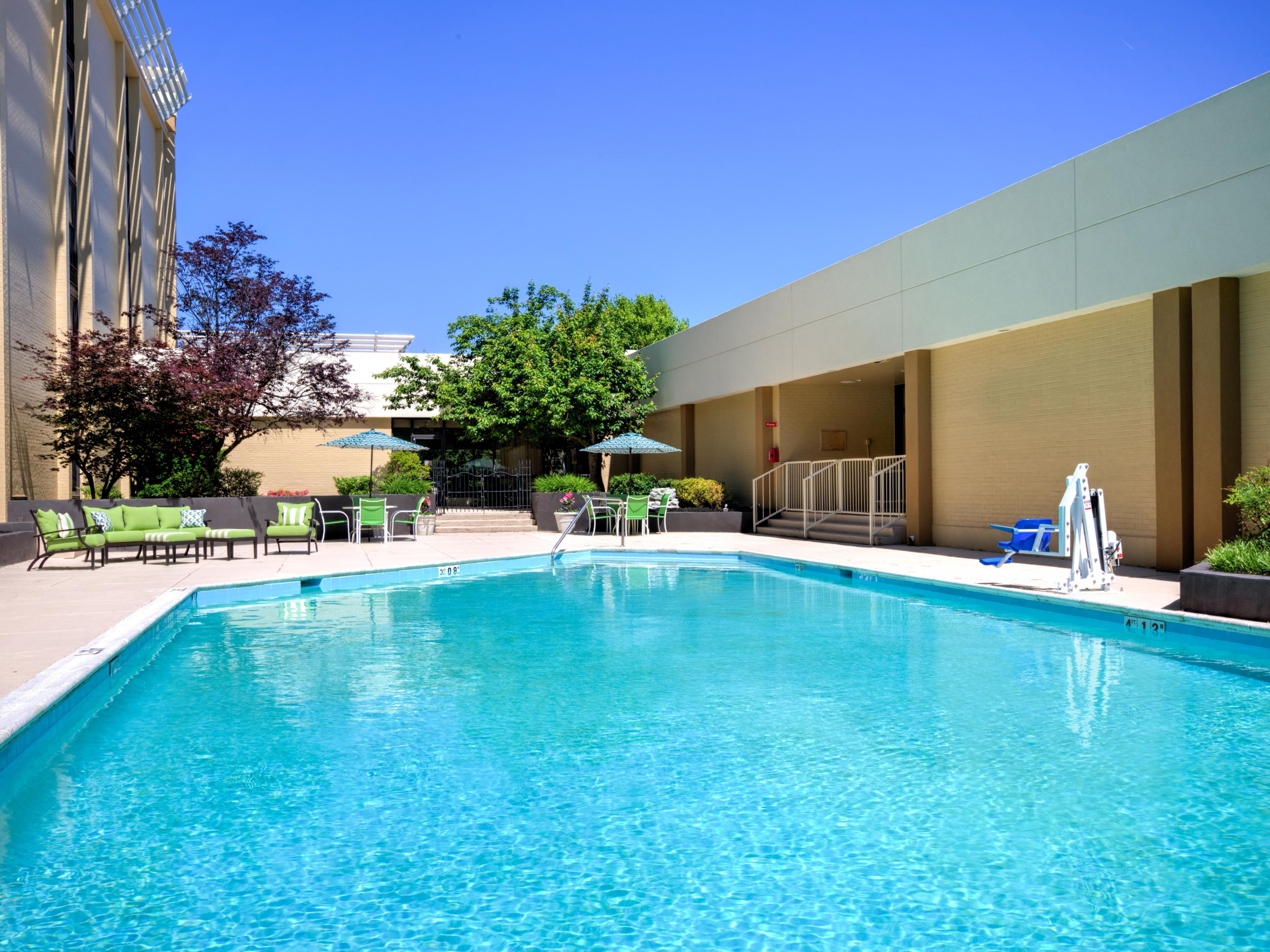 Take a dip in our outdoor heated pool (seasonal)