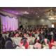 Elegant backdrop for speakers and presentations