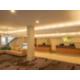 A bright spacious lobby awaits your arrival