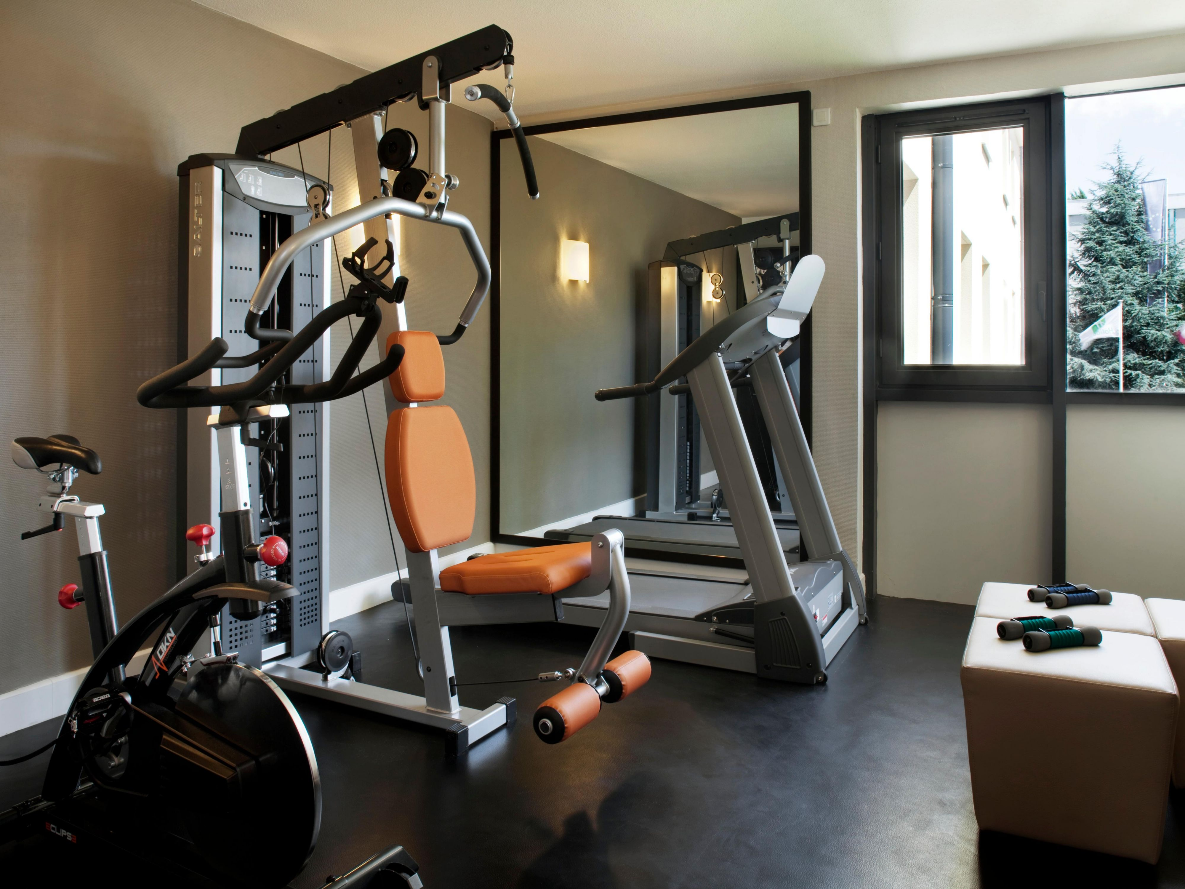Complimentary mini gym with 3 machines
