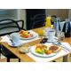 Enjoy a full continental buffet breakfast in the open lobby