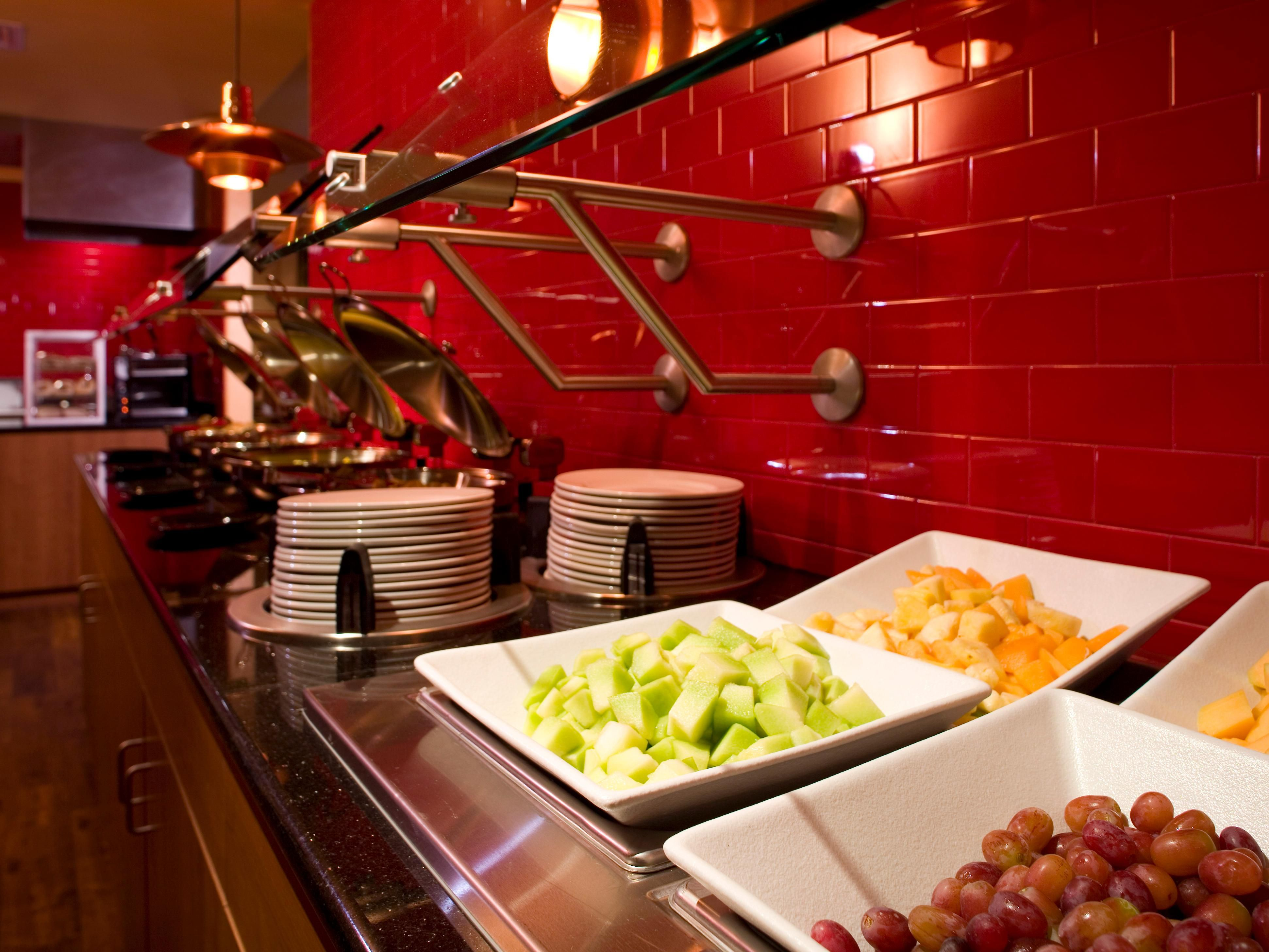 Start your day off right with hot breakfast from our Breakfast Bar