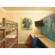 Zoo-themed Kid's Room with bunk beds for two