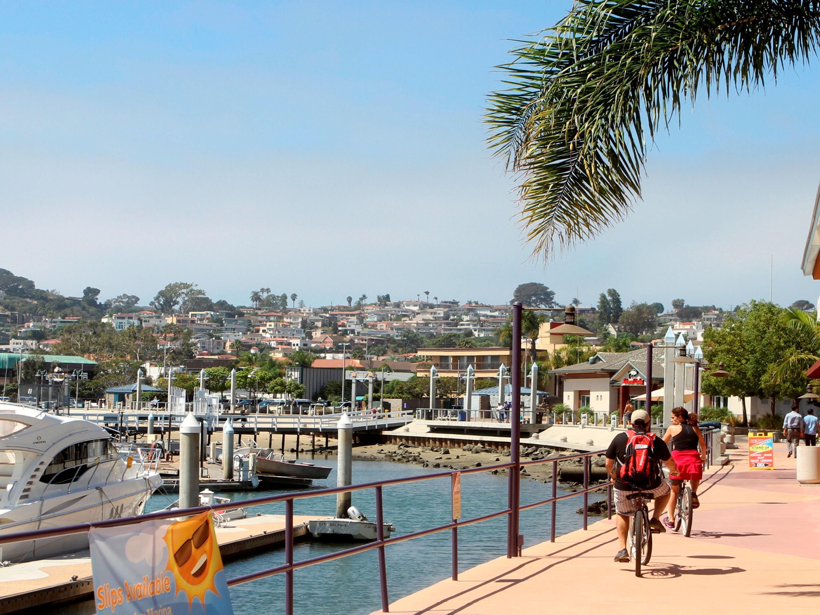 Take a stroll or a bike ride along the bayside path