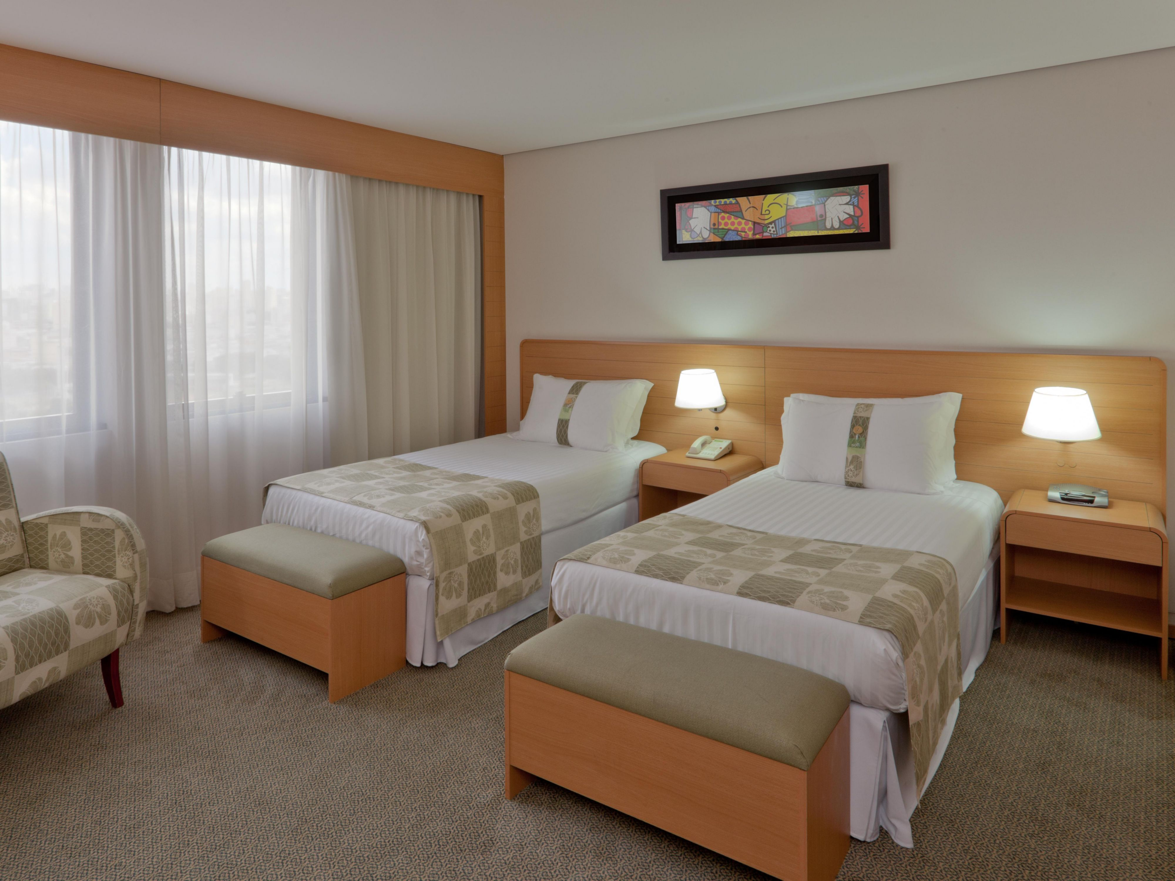 Quarto Classic 2 camas de solteiro do Holiday Inn Parque Anhembi