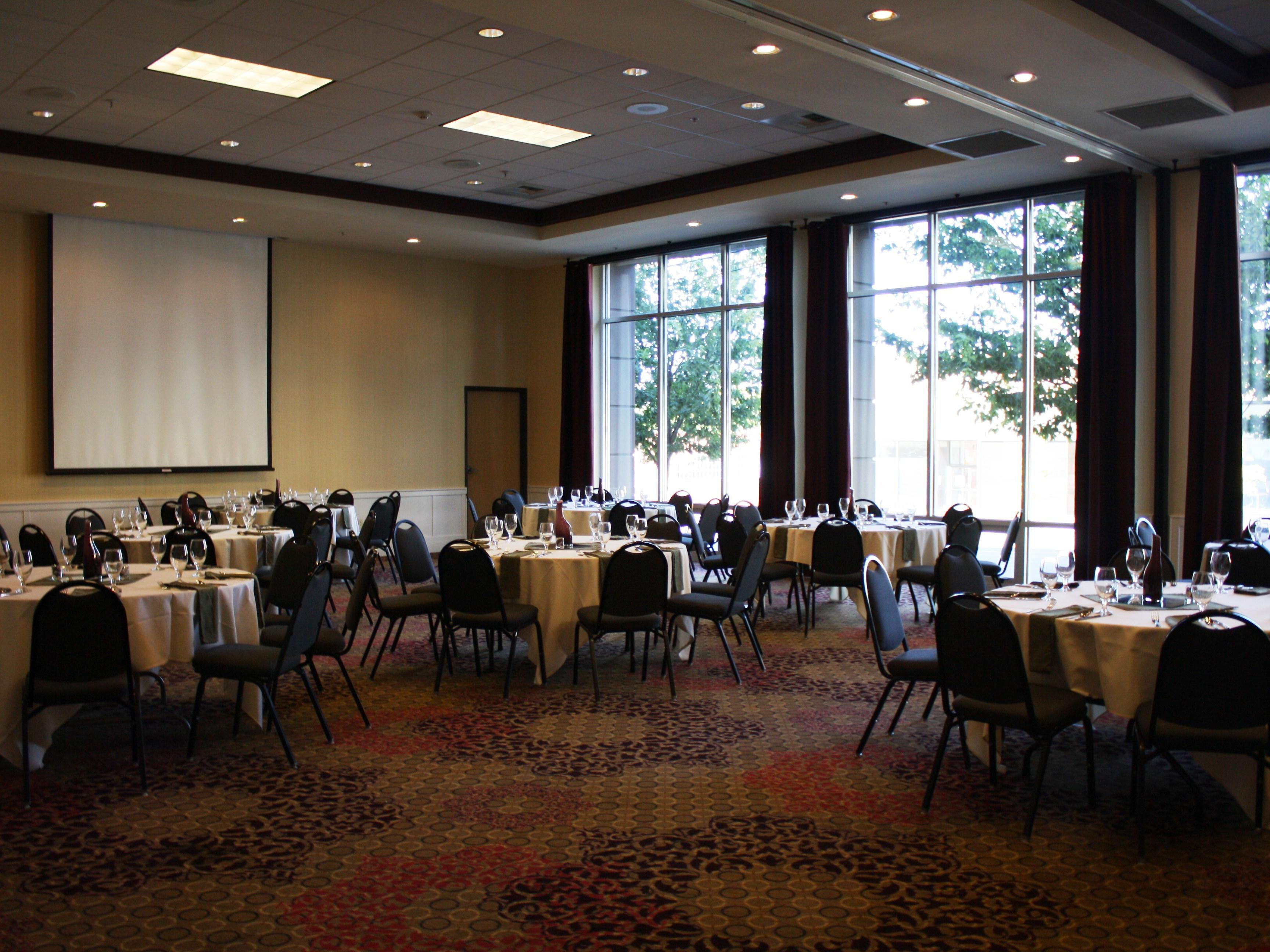 Our Ballroom can accommodate groups up to 120 people