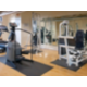 Fitness Center workout area with flatscreen TV's