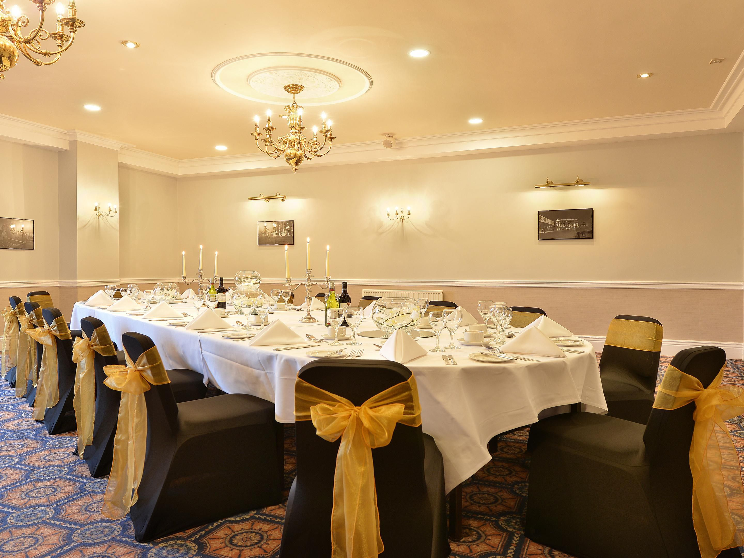 Private dining facilities available at the hotel