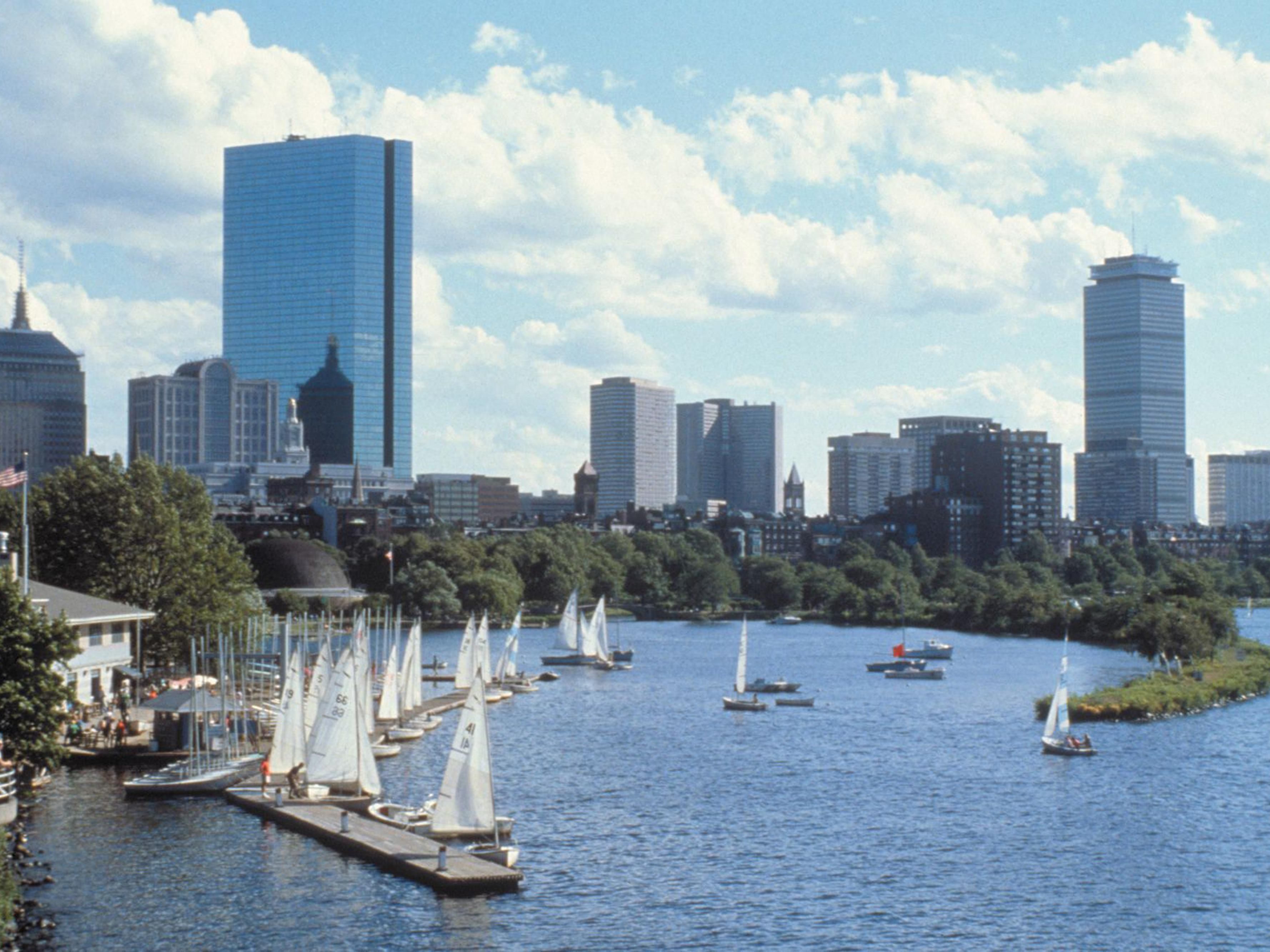 The beautiful Charles River is just minutes from our hotel.