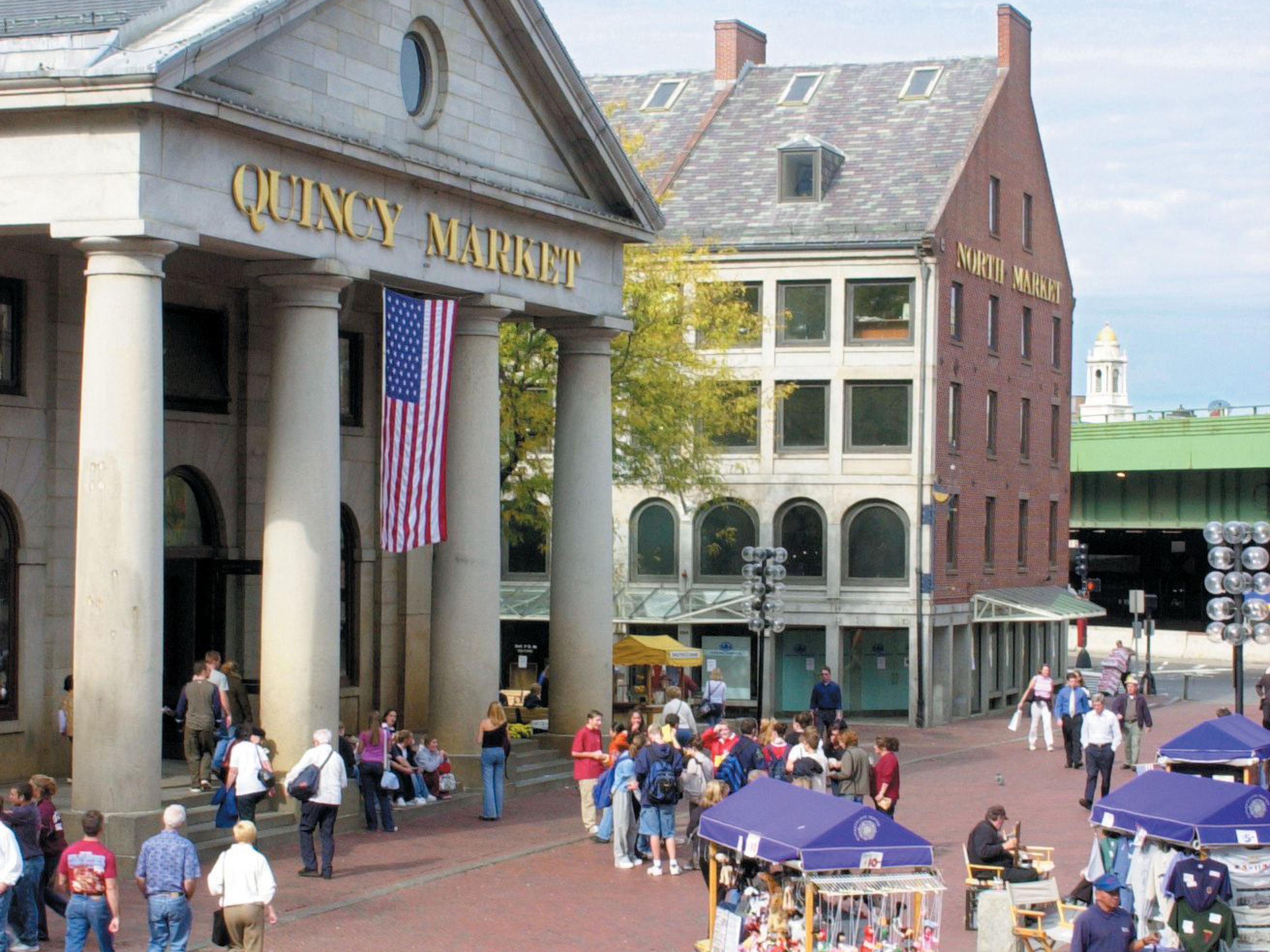 Great shopping in Fanueil Hall - Boston is only 2.5 miles away.