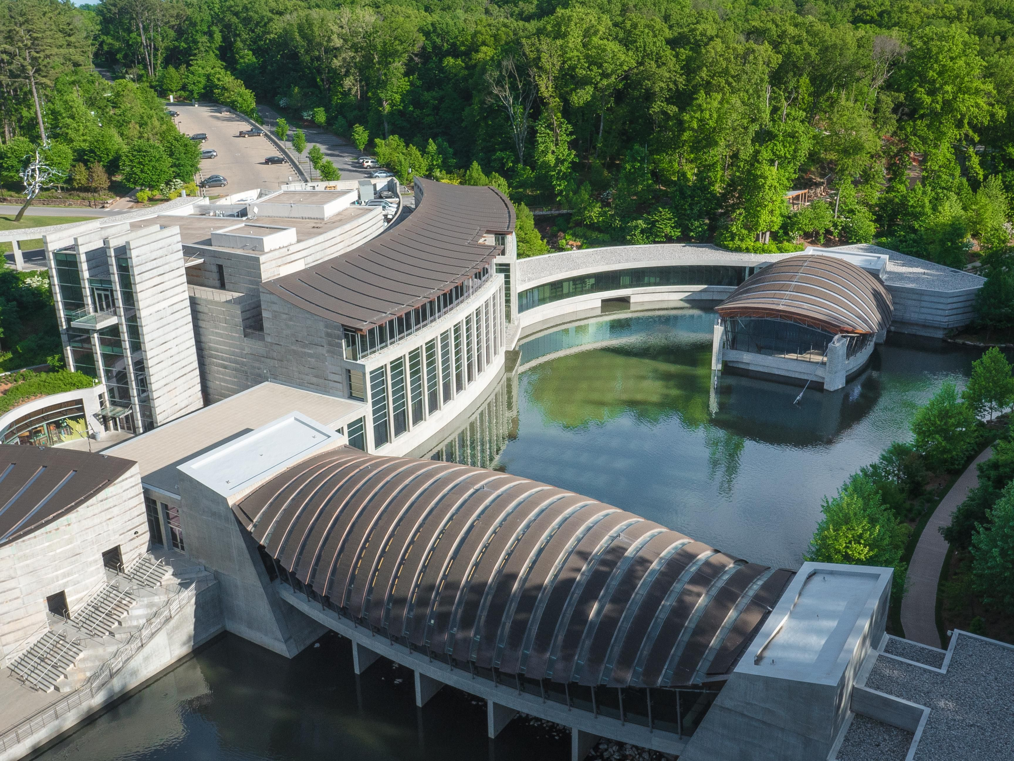 Aerial View, Crystal Bridges by Adair Creative, courtesy CBMA
